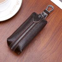 新款头层牛皮汽车钥匙包男士大容量腰挂真皮锁匙包女手拿零钱收纳