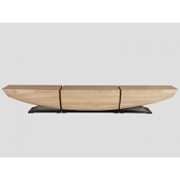北欧创意家具个性实木凳子换鞋凳原木雕刻设计师简约时尚长凳