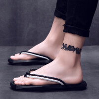 2018夏季新款拖鞋男休闲时尚防滑人字拖个性外穿沙滩鞋男士潮流鞋