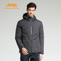 【特惠直降】Jeep/吉普 男士户外防风保暖加厚轻薄宽松舒适羽绒服J742094702