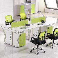 职员办公桌办公家具简约现代办工作桌2/4/6人位屏风电脑桌椅组合