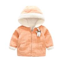 婴儿衣服装0岁6个月2宝宝上衣新生儿加绒加厚外套冬装新年