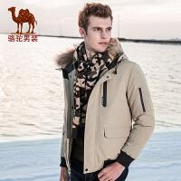 骆驼男装 秋冬新款加绒加厚羽绒服潮流韩版短款情侣外套男女