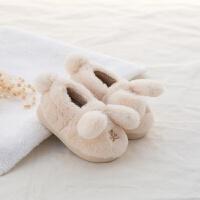 女童家居鞋宝宝棉拖鞋婴儿拖鞋冬男童室内鞋防滑保暖包跟棉鞋
