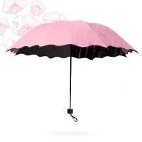 物有物语 晴雨伞 创意反向伞双层伞面可站立反转汽车C型直杆小清晰可折叠长柄黑胶钢骨雨伞雨具
