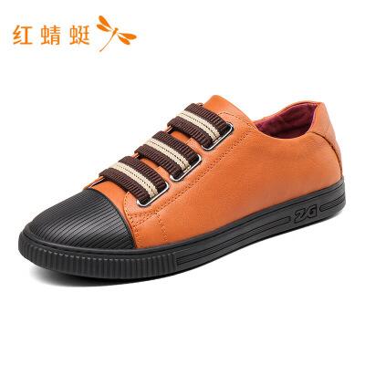 红蜻蜓男鞋秋季新款休闲拼接撞色经典运动潮流百搭板鞋鞋子男-