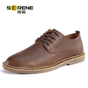 西瑞新款皮鞋男士休闲鞋板鞋牛皮工装鞋男鞋复古青年单鞋秋季潮鞋6310