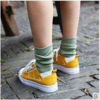 堆堆袜夏季薄款纯棉中长筒袜子女韩国日系原宿韩版学院风森系百搭