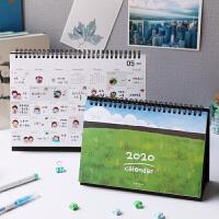千寻时光绿色田野台历2020年大格子创意简约记事日历可爱计划本