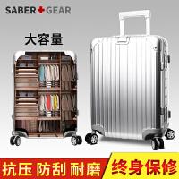 瑞士军刀行李箱女拉杆箱男铝框24寸旅行箱万向轮学生26寸登机箱皮箱BX161008