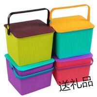 炫彩塑料水桶多用桶可坐钓鱼桶 洗澡桶凳方形储物桶多功能手提桶p