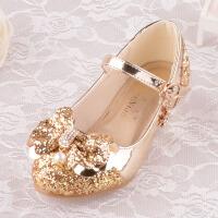 女童公主皮鞋模特比赛儿童鞋高跟时尚单鞋粉银白金色配礼服公主裙