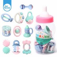 婴儿手摇铃玩具0-3-6-12个月宝宝男女孩4牙胶益智1岁新生儿幼儿5