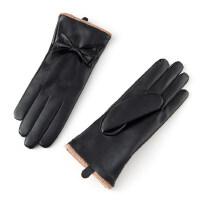 保暖加厚韩版触屏皮手套女冬季户外骑行车女士手套秋冬