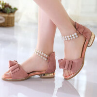 童鞋女童凉鞋夏季小女孩公主鞋儿童罗马鞋中大童学生凉鞋