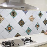 厨房防油贴纸灶台用防水防油烟机瓷砖墙贴壁纸自粘橱柜门冰箱贴纸