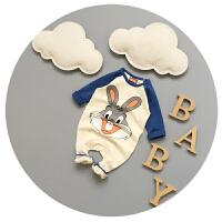 婴儿连体衣纯棉0-3-6-9-个月新生儿衣服卡通可爱哈衣可开档潮爬服