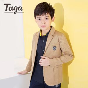 TAGA   春秋款童装男童中大童西服儿童休闲西装外套学院风