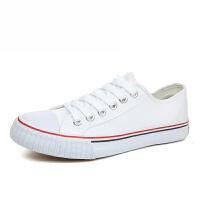 潮牌新款帆布鞋子男女式款低帮一脚蹬潮学生休闲韩版平底跟夏秋季休闲小白鞋