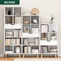 简易书架落地学生简约宜收纳书柜家用创意小置物架省空间柜子