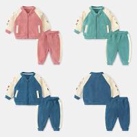 婴儿卫衣套装长裤子幼儿男童女宝宝两件套