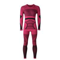 情侣款功能性滑雪内衣 户外速干防寒保暖内衣套装 G女滑雪内衣玫红