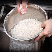 德国304沥水篮不锈钢淘米器洗米洗菜筛子厨房淘米盆家用加厚圆形