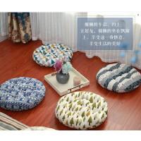 日式棉麻蒲团加厚圆形榻榻米小坐垫飘窗垫办公室凳子椅垫布艺垫子