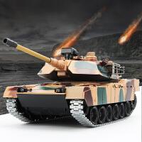超大型美国M1A2金属遥控坦克履带式越野车对战可发射军事模型玩具