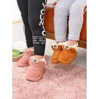 宝宝棉鞋1-3岁男加绒加厚儿童女童毛毛鞋外穿二棉鞋
