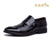 红蜻蜓男鞋春秋季新款英伦商务休闲鞋韩版潮流真皮皮鞋