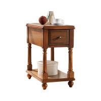 欧式边柜美式实木长方形简约客厅家具储物边桌沙发角几侧边柜