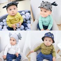 女婴儿童上衣服2个月3男宝宝休闲长袖T恤5新生儿打底衫春装