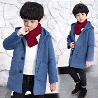 中大童冬装韩版儿童加厚中长款呢子大衣洋气童装男童毛呢风衣外套