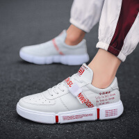 新款时尚小白鞋低帮男鞋子男港风男士休闲鞋运动板鞋男6933