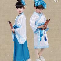 六一儿童节演出服古装汉服男女童国学服装表演服书童三字经幼儿园