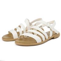 Crocs女士单鞋 卡骆驰2021新款春季特萝莉女平底束带凉鞋|206107 特萝莉度假风女士凉鞋