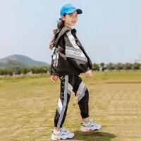 童装女童运动套装春秋款儿童中大童时髦两件套