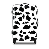 冬季新款可爱卡通奶牛纹ABS+PC拉杆箱万向轮旅行箱行李箱登机箱20寸24寸 奶牛纹