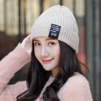 女帽时尚韩版针织帽日系百搭甜美可爱毛线帽保暖学生棉帽