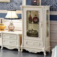 家具欧式酒柜实木雕花客厅装饰柜法式客厅单门红酒柜 欧式单门装饰柜 单门