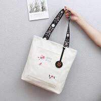 包包女帆布包�渭缡痔崤�包大容量百搭上�n布袋包�物袋