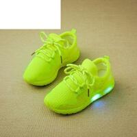 潮牌女童运动鞋夏季韩版儿童鞋网鞋透气闪光中大童软底学生跑步鞋