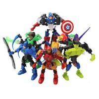 全店满99包邮!复仇者联盟钢铁侠美国队长蝙蝠侠绿巨人偶公仔 拼装玩具 益智礼物