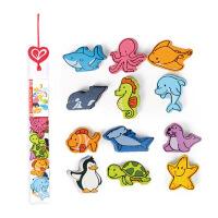 Hape立体海洋动物1-6岁儿童益智早教积木玩具婴幼玩具木制玩具E0902