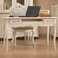 欧式书桌纯实木书桌简欧电脑桌田园实木小书桌简约现代桌定制尺寸 明黄色 1.2电脑桌 否