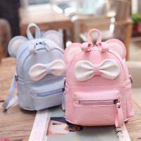 茉蒂菲莉 儿童书包 女童米奇单肩双肩包女包两用小书包儿童可爱蝴蝶结小背包