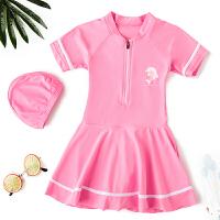 儿童泳衣女童中大童速干连体裙式可爱小女孩公主泳装