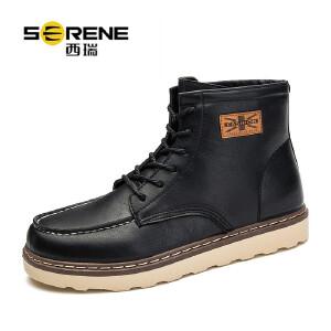 西瑞高帮马丁靴男秋冬新款复古工装靴短靴厚底男靴子ZC-B10