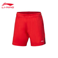 李宁羽毛球比赛裤女士2019新款羽毛球系列吸汗女装梭织运动短裤